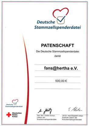 Deutsche Stammzellenspenderdatei - Patenschaft