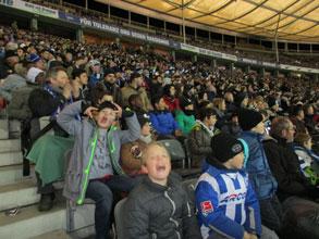 Schulstation der Christian-Morgenstern-Grundschule bei Hertha BSC gegen Mainz 05